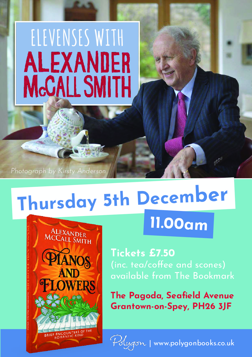 Elevenses with Alexander McCall Smith