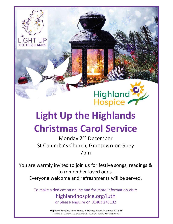 Light Up the Highlands Christmas Carol Service