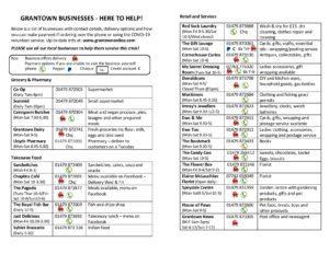 Grantown businesses